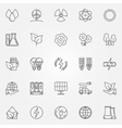 Ecology linear icons vector image