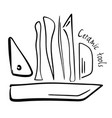 hand-drawn pottery tools vector image