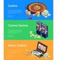 Internet casino games Modern flat design concepts vector image