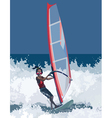man has windsurfing vector image