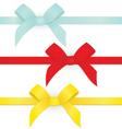 Ribbon three bows vector image