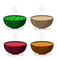 the theme soup vector image
