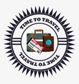 time travel equipment vacation stamp vector image