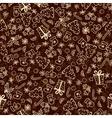 Vintage Christmas Set of Xmas Elements vector image