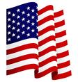 Waving US Flag vector image