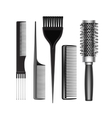 Set of Grooming Hair Brush Comb Professional Tools vector image