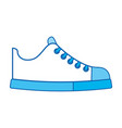 Cute blue icon shoe cartoon vector image