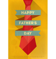 fathers day poster tie red vector image