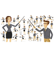 Business people silhouettes Business people vector image