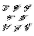 Black wings in tribal tattoo style vector image