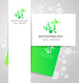biotechnology nano logo vector image