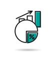 icon revenue growth vector image