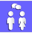 icons with the image of women and men vector image