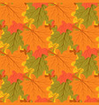 maple leaves autumn background endless seamless vector image