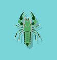 paper sticker on background of lobster vector image