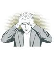 People in retro style Man clutching his head vector image