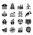 stock market investment icons vector image