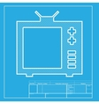 TV sign White section of icon on vector image