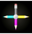 United CMYK pencils vector image