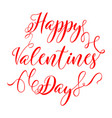 valentines day vintage lettering on white vector image