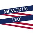 memorial day american flag ribbon polygonal vector image