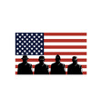 American Soldiers Stars and Stripes Flag vector image