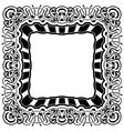 Black frame with ornamental border vector image