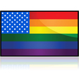 USA rainbow flag vector image