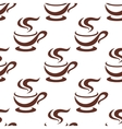 Seamless steaming cappuccino cups pattern vector image vector image