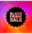 Black Friday Sale label stamp on geometric bright vector image