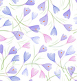 fashion seamless texture with crocuses vector image vector image
