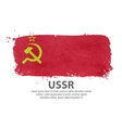 flag USSR Russia vector image