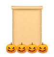 Halloween parchment vector image