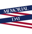 memorial day american flag ribbon polygonal vector image