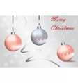 Merry Christmas Sparkling baubles vector image