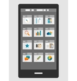 Mobile phone apps trendy flat design vector image