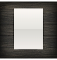 Paper sheet on wood background vector image