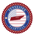 Label sticker cards of State Tennessee USA vector image