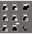 set of icons for web and telephone vector image