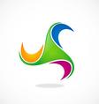 circular abstract technology logo vector image