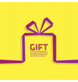 Gift in the style of origami ribbon vector image
