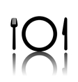 Fork plate and knife  Cutlery vector image