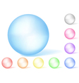 Multicolored opaque spheres vector image vector image