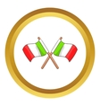 Italy crossed flags icon vector image