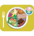 lunch items vector image