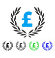 pound laurel wreath flat icon vector image