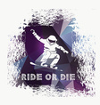 Snowboard icon design vector image