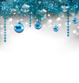 Traditional glowing background with Christmas vector image