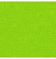 Line School Green Seamless Pattern vector image