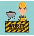 man website under construction avatar vector image
